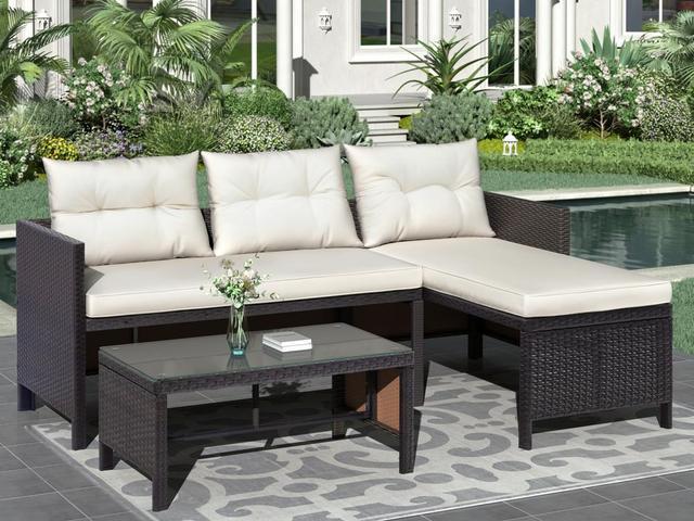 8 IN 1 Garden Rattan Sofa Furniture Set  1