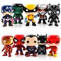 Funko pop marvel brinquedos figuras dc super heróis thor homem-aranha hulk ironman capitão americano vinil figura bonecas presentes 10 pçs/set