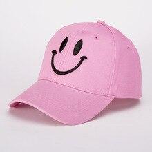 Versión coreana de la gorra de béisbol de algodón de moda señora informal cara sonriente color sólido sombrero primavera y verano al aire libre sombrilla gorra