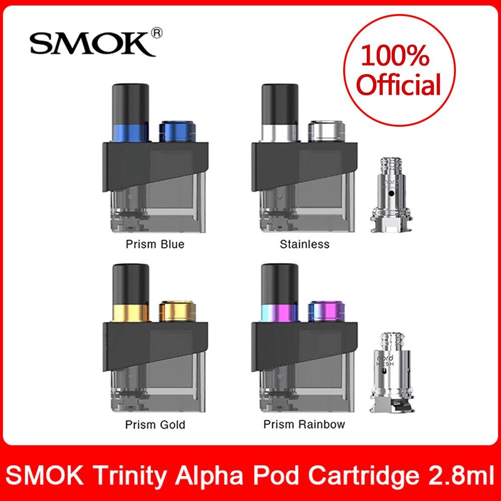 Cartouche originale de cosse d'alpha de trinité de SMOK 2.8ml avec la bobine de maille du nord pour le kit de système de dosette d'alpha de trinité de Cigarette électronique