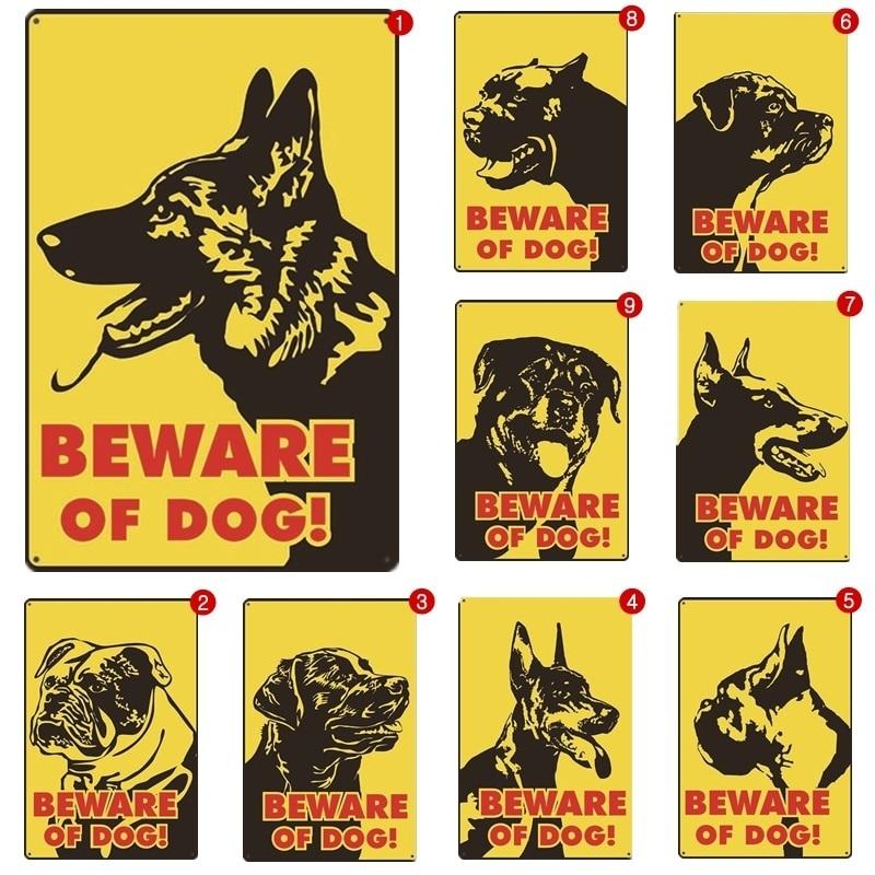 Cuidado con el signo de perro