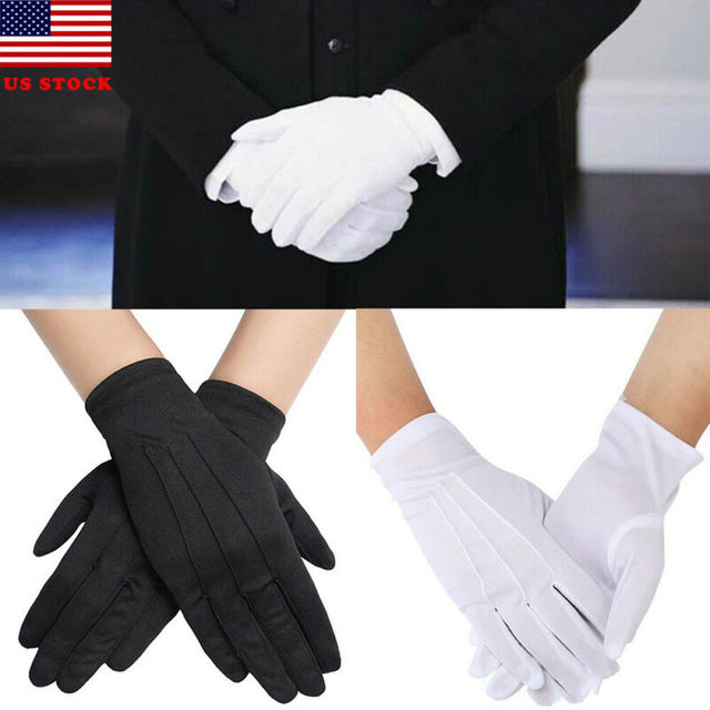 High Quality HOT Selling Functional 1 pair Cotton gloves Khan cloth quality check Solid gloves rituals play white gloves