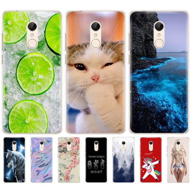 Silikon telefon Fall Für Xiaomi Redmi 5 5,7 zoll Xiaomi Redmi 5 Plus 5,99 Inch Fall für hongmi Redmi 5 plus fation telefon shell