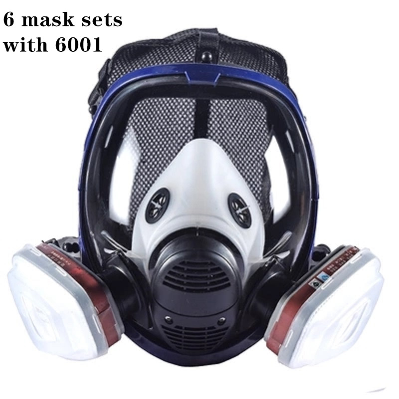 Working chemical gas mask, 6800 full face mask, respirator, full face mask with carbon filter. Industrial, spray paint