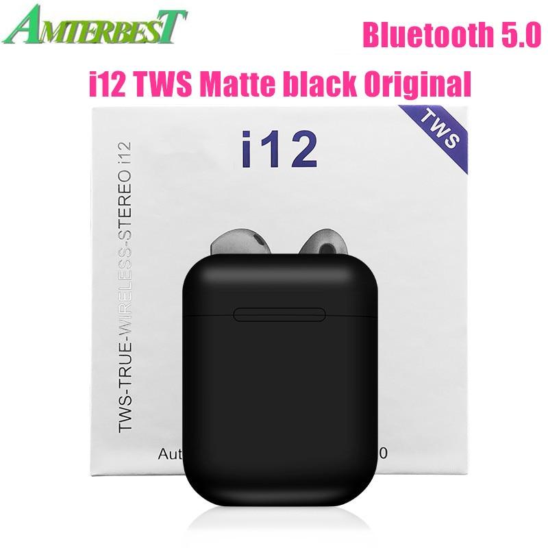 AMTERBEST I12 TWS Touch Control Mini Drahtlose Bluetooth 5,0 Kopfhörer Stereo Headset Pk I10 I11 Tws für Android IOS Smart telefon