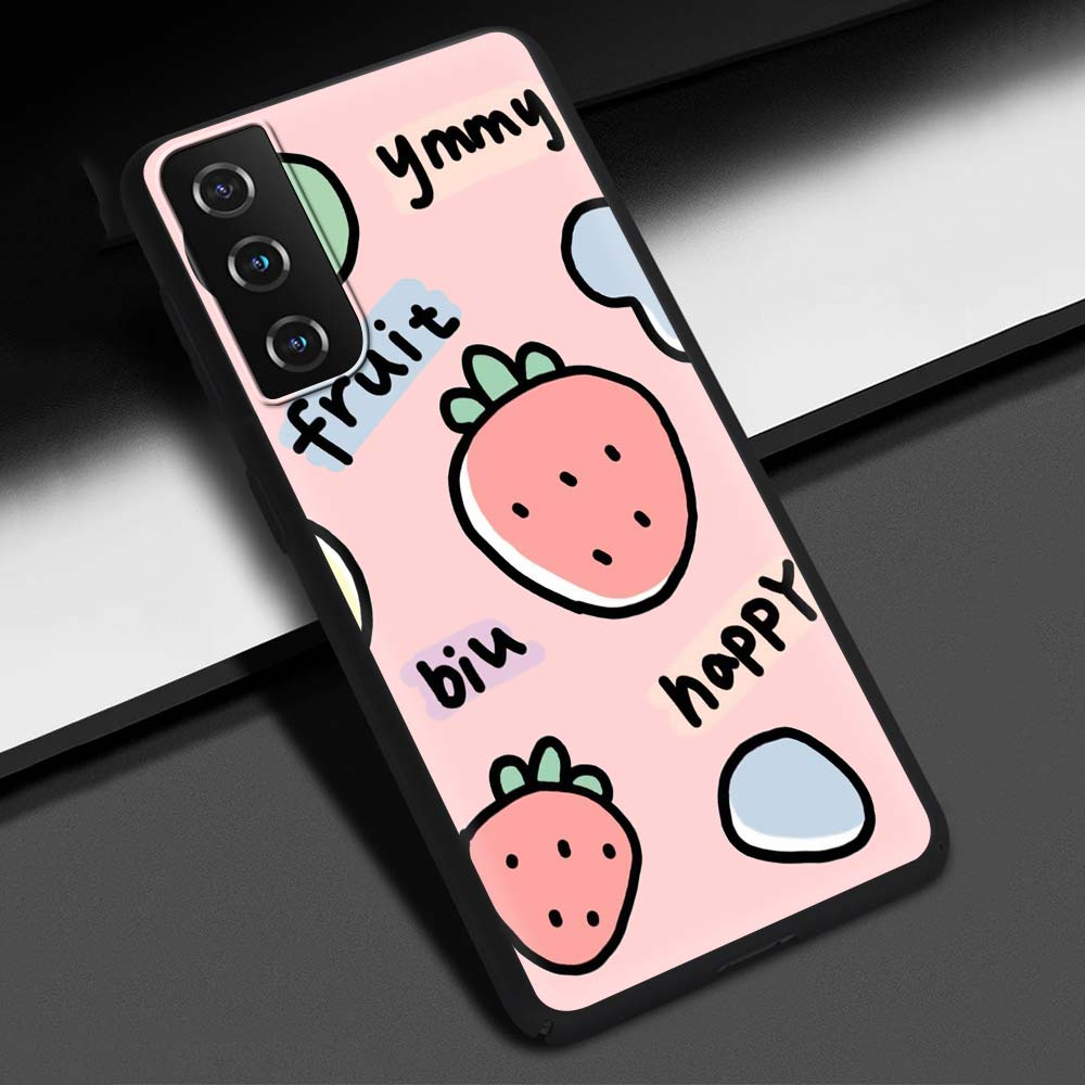 Phone Case For Samsung Galaxy S20 FE S10 Plus S21 Ultra S10e S8 S9 Plus Soft Silicone Black Cover Cute Candy Color Couples