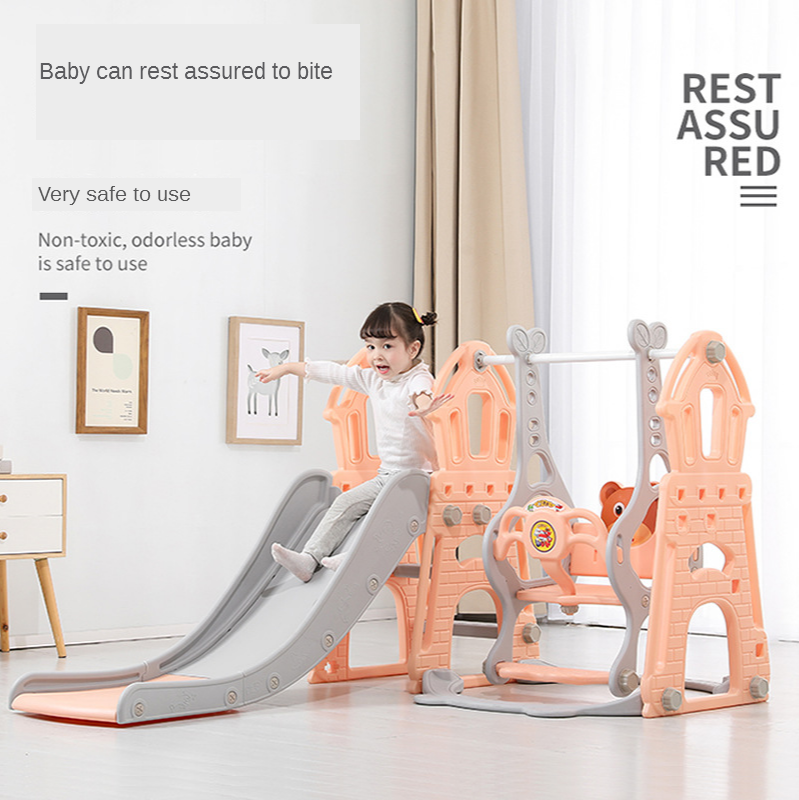 Children Slide Indoor Baby Household More Function Slippery Ladder Baby Group He Slide Swing Plastic Toy Thicken