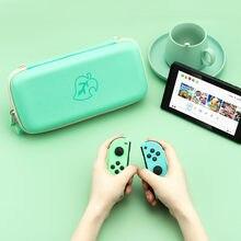 Geekshare-Bolsa de almacenamiento de hojas verdes, bolso de Animal Crossing para Nintendo switch NS, controlador de Estuche De Viaje, bolsa portátil dura de transporte