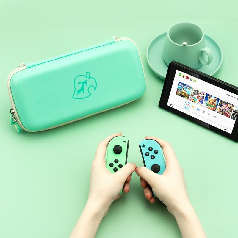 Geekshare hojas verde bolsa de almacenamiento de Animal Crossing para Nintend switch NS Estuche De Viaje controlador duro llevar bolsa portátil