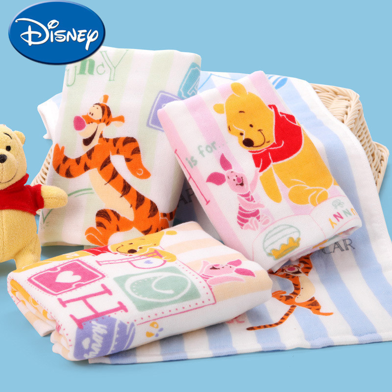 Disney Winnie The Pooh Baby Face Towel Boy And Girl Baby Fund Gauze Child-towel Pure Cotton Wash Face Hand Towel
