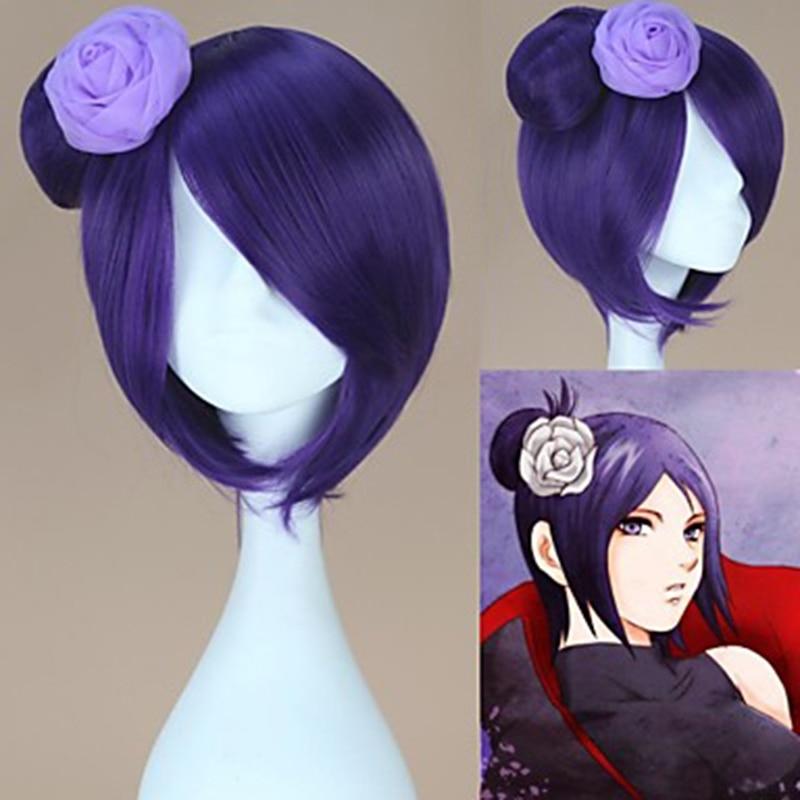 HAIRJOY Synthetic Hair  Naruto Konan Purple Cosplay Wig  Heat Resistant Fiber 2