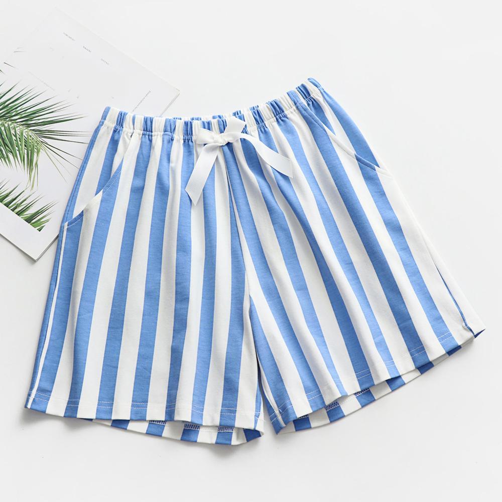 Women's Sleepwear Shorts Fashion Bow Loungewear Casual Striped Pajama Pant Homewear Pantalon Pijama 2019 New Hot Sale 1
