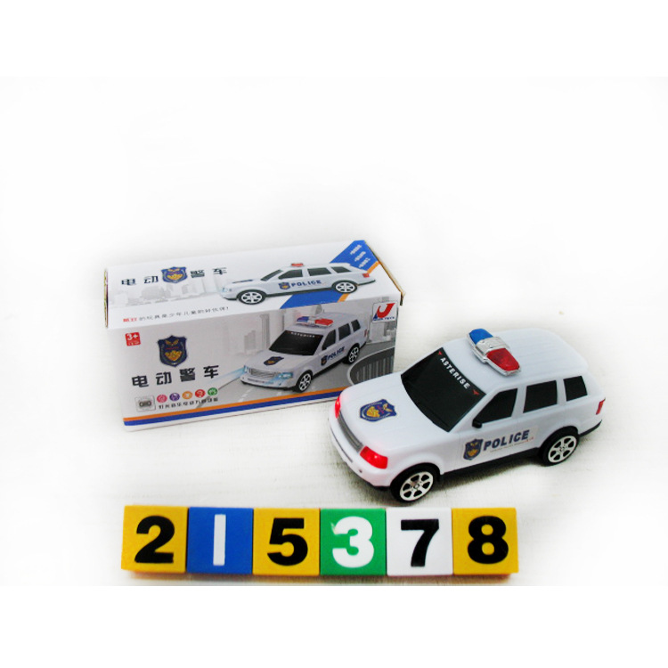 Hot Sales 8225-21 Light Music Electric Model Police Car Children Early Childhood Educational Electric Toys