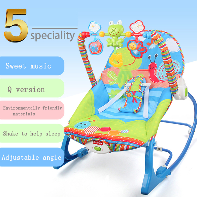 Baby Electric Cradle Swing For Newborn Metal Rocking Chair with Light Music Player Multi-function Baby Bassinet Cradle Kids 1