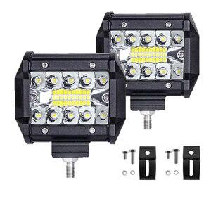 Image 1 - Led Light Bar 4 Inch 60W LED Work Light Bar Combo Offroad 4x4 Fog Light Driving Light Lamp for Truck 12V Headlight for Boat