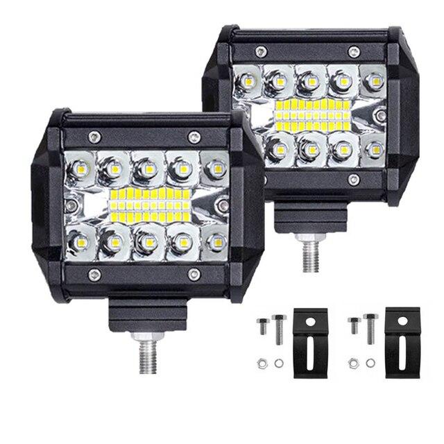 Led Light Bar 4 Inch 60W LED Work Light Bar Combo Offroad 4x4 Fog Light Driving Light Lamp for Truck 12V Headlight for Boat