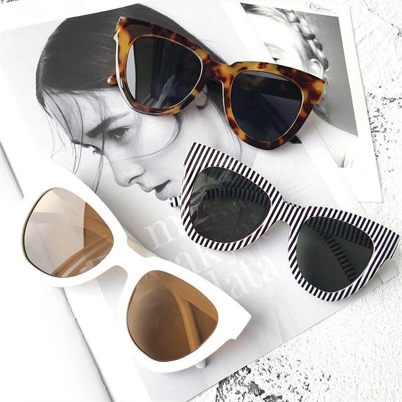 SEEMFLY Women White New Square Sunglasses Fashion Retro Big Box Sunglasses Beat Street Thin Anti-UV Eye Protection Sun Glasses