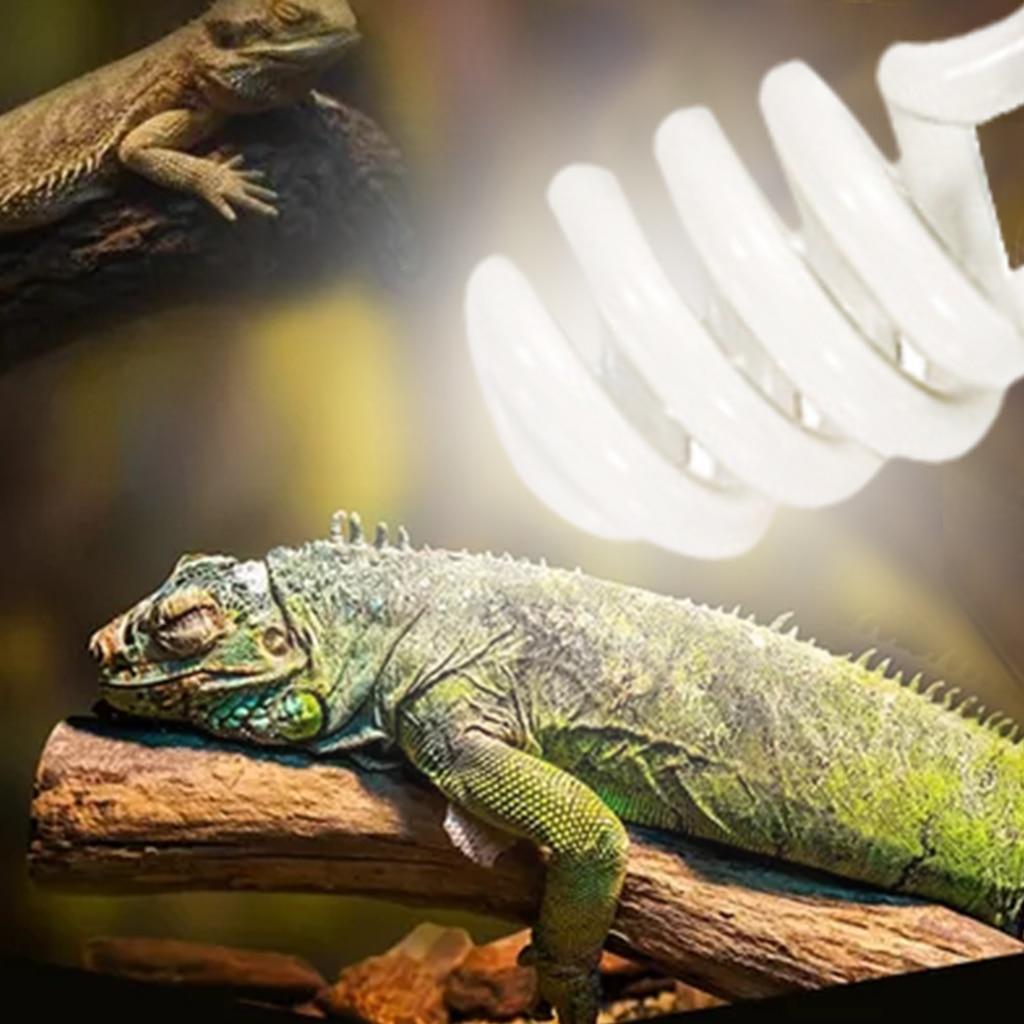 Reptile UVB 5.0 10.0 Lamp Bulb For Turtle Lizard Snake Lguanas Heat Calcium Lamp Bulb Energy Saving Light Reptile Succulent E27