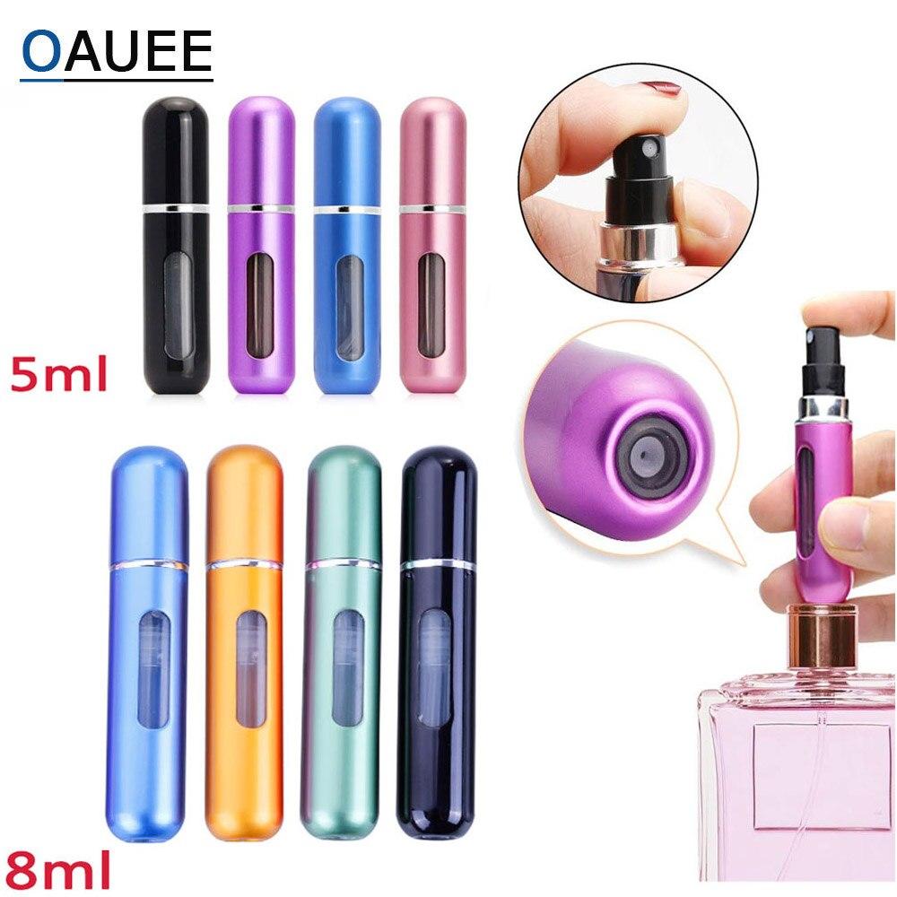 5 ml / 8 ml Portable Travel Mini Container Aluminum Refillable Perfume Spray Bottle Empty Cosmetic Storage Bottles