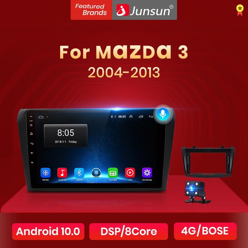 Junsun V1 2G + 32G Android 10.0 DSP autoradio multimédia lecteur vidéo pour Mazda 3 bk 2004-2013 Mazda3 Navigation GPS 2 din DVD