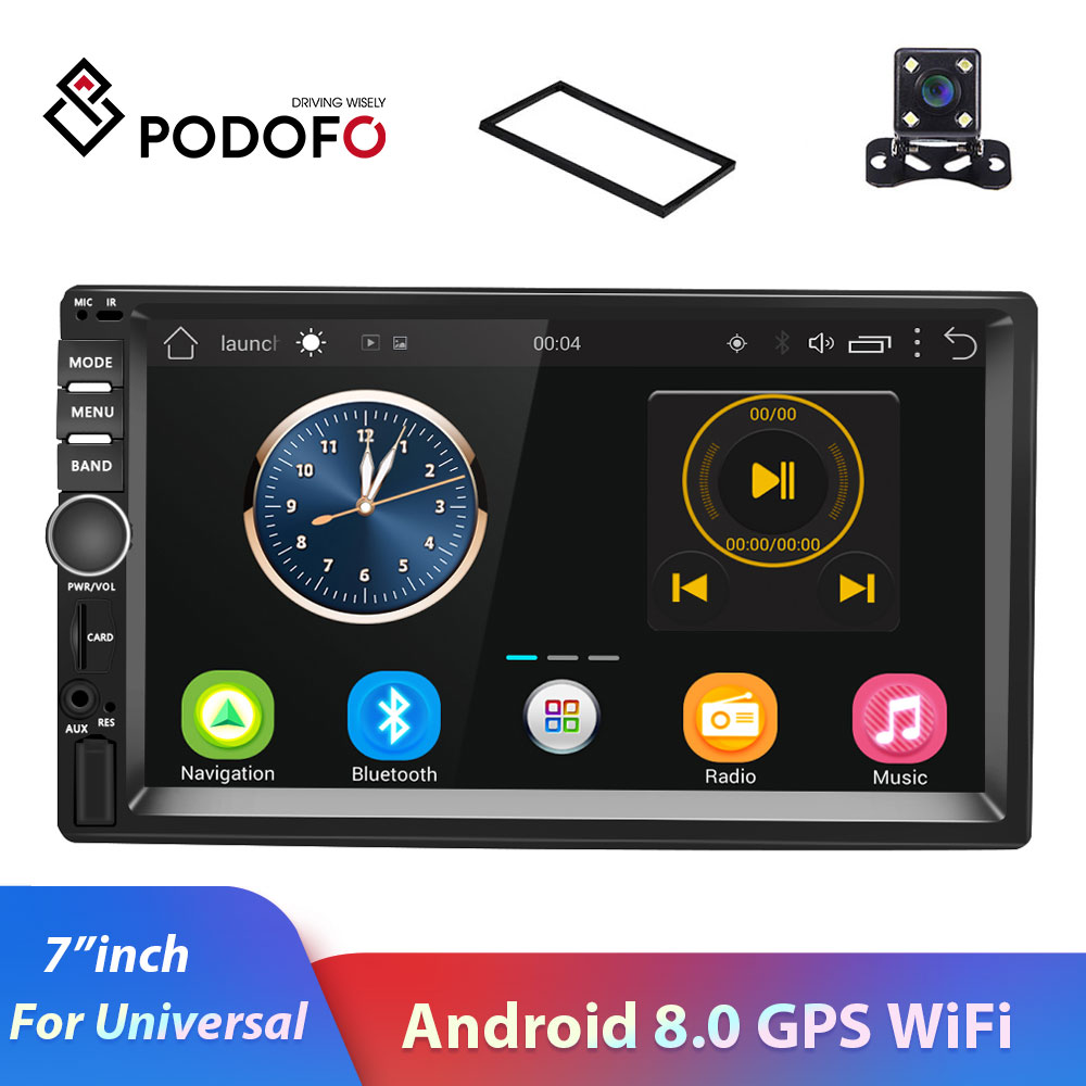 7 Inch for Android 8 1 System 16G Memory Touched Screen HD Car Bt MP5 Player