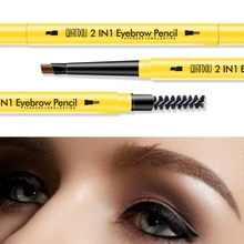 Waterproof Eyebrow Pencil With Eyebrow Brush Fashion Pro Makeup Smudge-proof Easy To Color Double-end Eyebrow Pen stylish leopard pattern double end waterproof smudge proof eyebrow pencil with brush