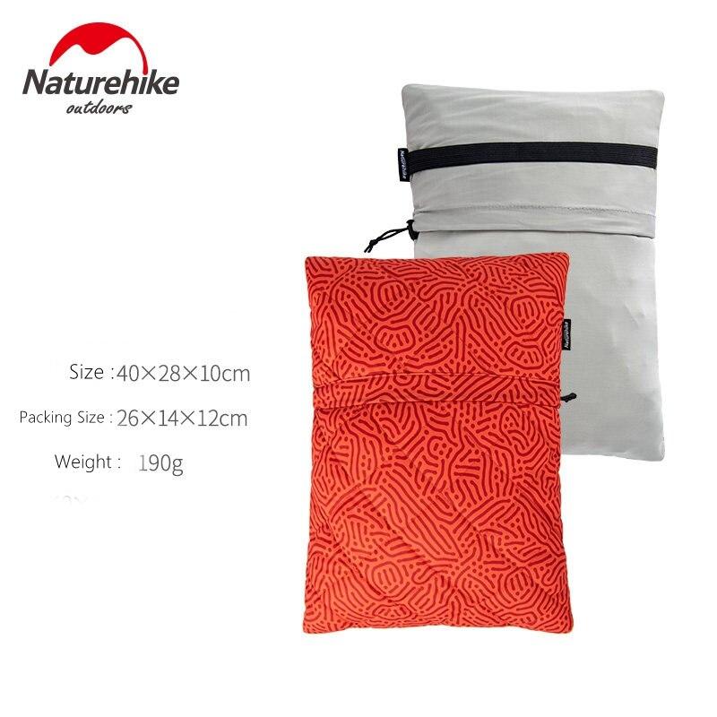 Naturehike дорожный напольный Ультра свет Губка Портативный Ланч диван Автомобильная подушка для шеи - Цвет: Red