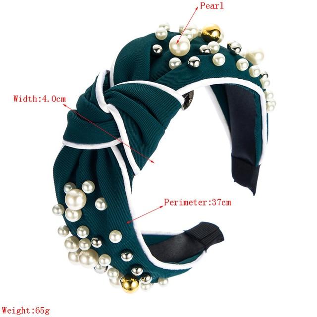 Wide Top Knot Pearl Hair Hoop Hairband  4