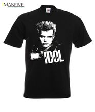 Billy Idol Rock Music T Shirt MenS High Quality Custom Printed Tops Hipster Tees New 2019 Hot Summer Casual T-Shirt Printing