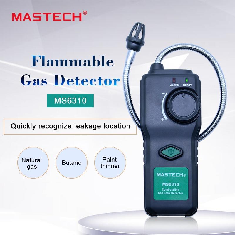 Детектор газа MASTECH MS6310 детектор утечки горючих газов тест Измеритель для природного Бутана краски тоньше анализатор горючих газов Газоанализаторы      АлиЭкспресс