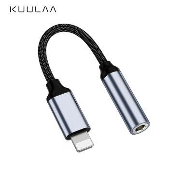 KUULAA para iPhone a 3,5mm adaptador de auriculares para iPhone 11 Pro 8 7 Aux 3,5mm Cable Jack para ios accesorios adaptadores