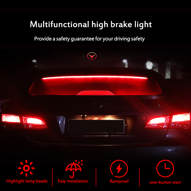 1 Pcs Trunk Brake Light For <font><b>VW</b></font> Polo Passat b5 b6 b7 b8 <font><b>Golf</b></font> 4 5 6 <font><b>7</b></font> T4 T5 Touran LED Strip Running Turn Signal Lamp <font><b>Sticker</b></font> image