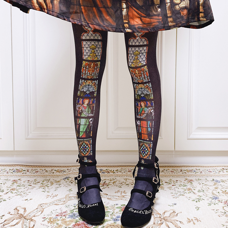 Image 3 - Colorful Window Printed Lolita Tighs Womens Pantyhose by Ruby RabbitTights   -