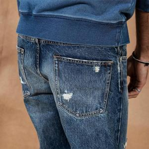 Image 4 - SIMWOOD 2019 autumn winter ripped jeans men patchwork streetwear denim trousers high quality  slim fit hole jean 190404
