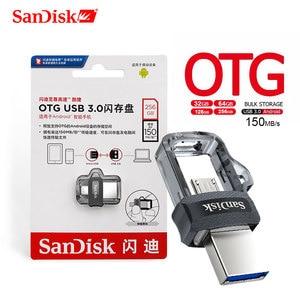Sandisk USB Flash Drive 64GB Extreme high speed 150M/S Pen Drive 32GB 256GB OTG USB3.0 128GB Dual OTG PenDrive 16GB for phone