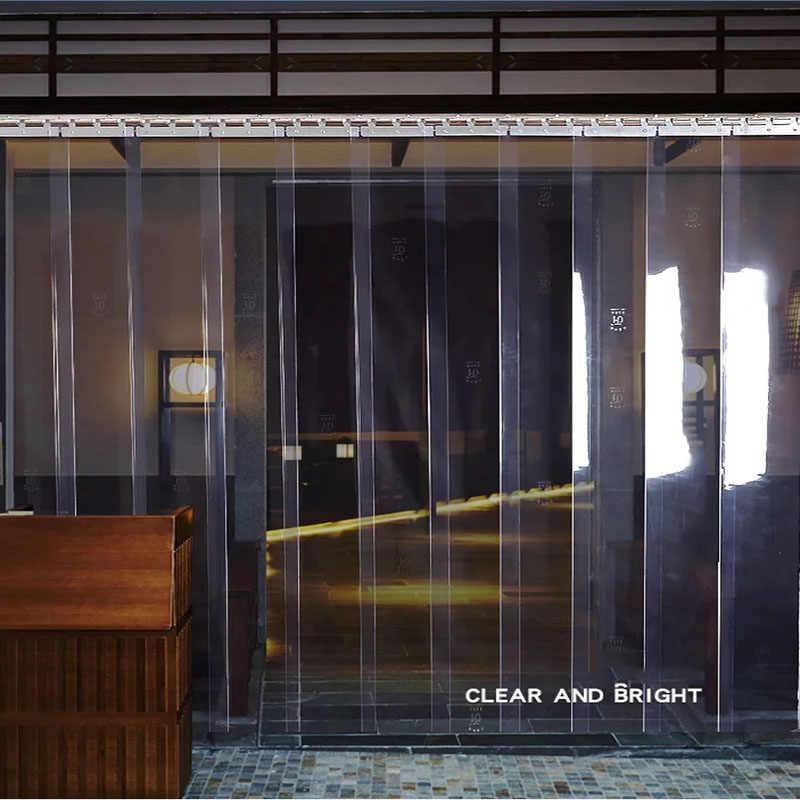 rideau de porte transparent doux