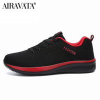 red-black-Men Women Knit Shoes Breathable Running Walking Gym Sneakers