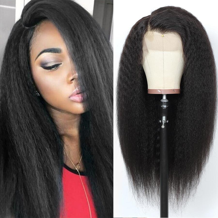 Peluca de encaje Frontal prearrancada para mujeres negras Peluca de cabello humano Remy peruano con cierre de encaje liso, 360