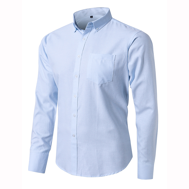 100% Cotton Men's Oxford Shirts High Quality Long Sleeved Button-down Neck Simplicity Soft Clothes Fashion Men Casual Shirt