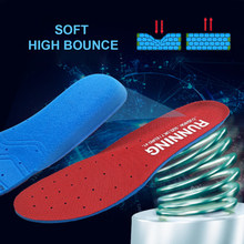 Memory Foam Sport Insoles Sweat Absorption Pads Running Sport Shoe Inserts Breathable Insoles Foot Care Men Women Size 35-45 HD1(China)