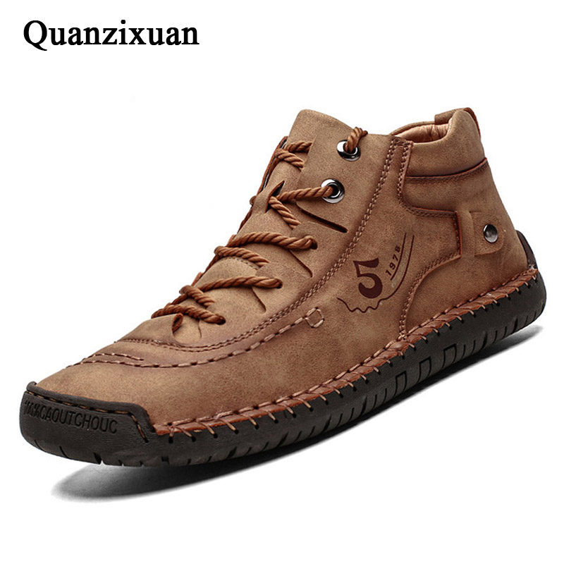 2020 Winter Shoes Men Boots Plush Warm Mens Winter Sneakers Outdoor Walking Shoes Men Sneakers Male Shoes Adult Boots Men 39 S