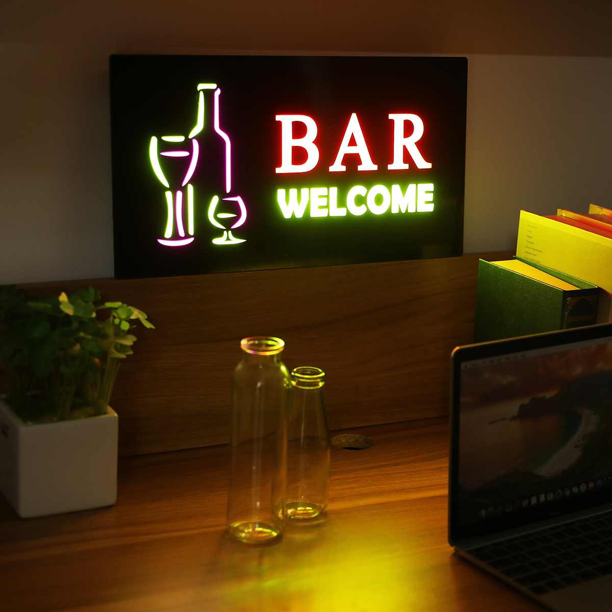 Hanging LED Sign Light Board Bar Pub Club Store Door Window Display Lamp Advertising Commercial Lighting Party Decoration
