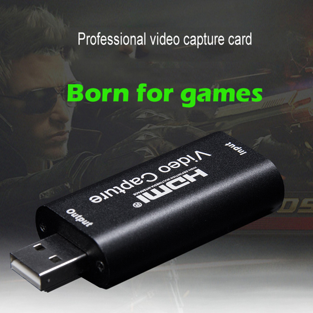 <font><b>Video</b></font> <font><b>Capture</b></font> <font><b>Card</b></font> USB 2.0 <font><b>HDMI</b></font> <font><b>Video</b></font> Grabber Record Box for PS4 Game DVD Camcorder HD Camera <font><b>Capture</b></font> Recording Live Streaming image