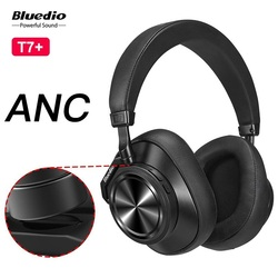 Original Bluedio T7 Plus Bluetooth Headphone ANC Noise Cancelling Wireless Headset HiFi Sound Face Recognition Support SD Card