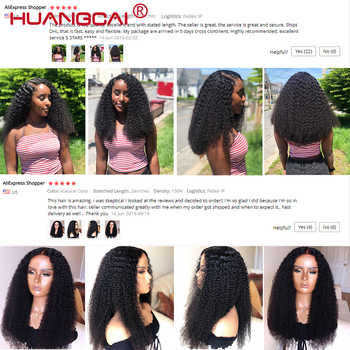 Kinky Curly 360 Lace Frontal Remy Brazilian Wig For Women Lace Frontal Human Hair Wigs Pre Plucked 150% Density Kinky Human Wigs