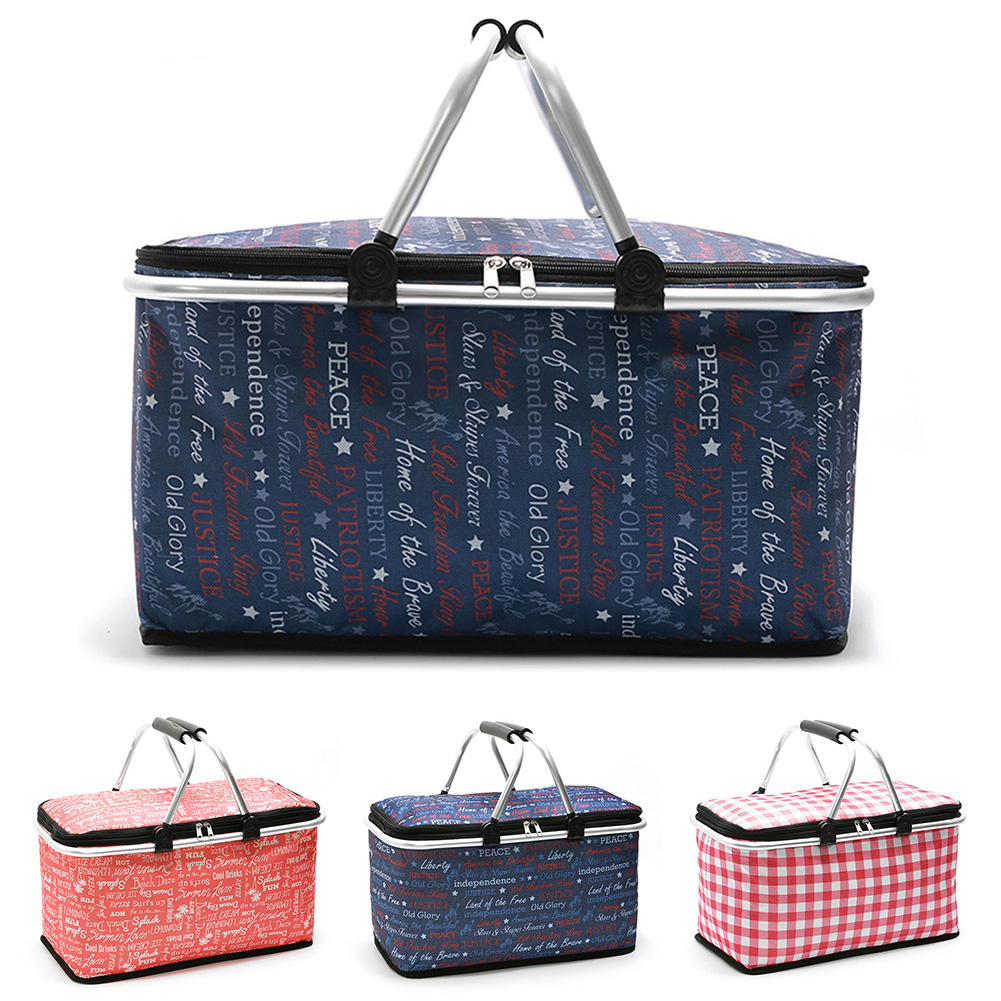 acessórios almoço cesta de compras multifuncional oxford