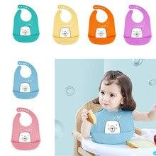 Baby Burp Cloths Waterproof Silicone Bibs Feeding Saliva Towel Cartoon Bib for Newborns Stuff Bandana