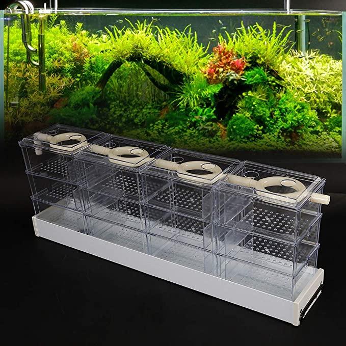 Aquarium Filter Pump Set Fish Tank Upper Trickle Box Canister Filter System,Upper filter Aquarium trickling filter box top filte