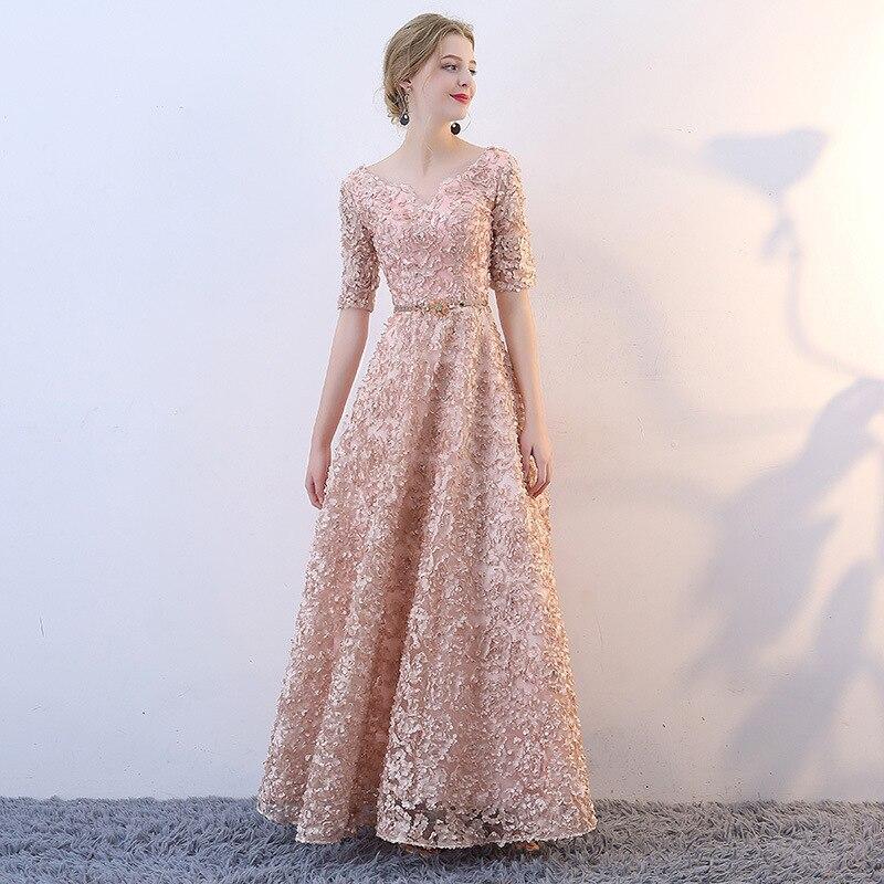 2020 Real Vestido De Festa Vestido De Noiva Bridal Toast 2020 New Fashion Korean Wine Wedding Dress Show Slim Party Evening