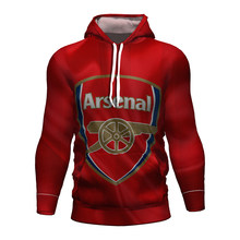 Arsenal Fc fútbol Jersey Fútbol 2017 2018 2019 3d Hoodie Kit Arsenal chándal niños Hoodies entrenamiento Arsenal Londres ropa(China)
